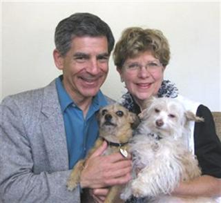 Phillip and Jane Mountrose with dogs