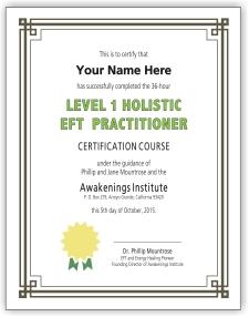 EFT Certificate