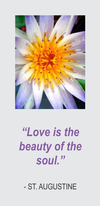 Love is the Beauty of the Soul, St. Augustine